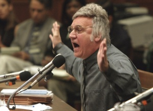 WASHINGTON, DC - Rep. James Traficant (D-OH) testifies on Capitol Hill in Washington, Monday, July 15, 2002 before the House Ethics Committee. Earlier this year Traficant was found guilty on counts of fraud, bribery and tax evasion. (PHOTOGRAPH BY CHUCK KENNEDY/KRT)